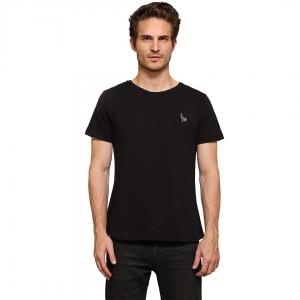 Camiseta Básica Lisa Preta Ostrich